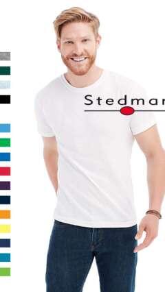 тениска мъжка памучна изчистена стедман st2000