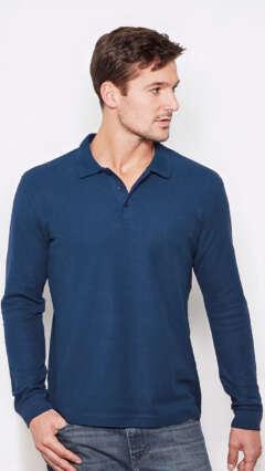 5443e6d1a29 Мъжка памучна поло блуза с дълъг ръкав и пике яка Stedman ST3400