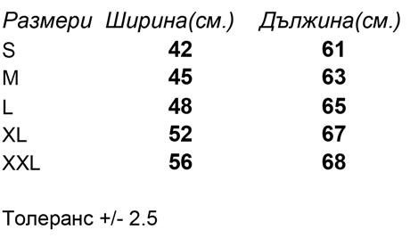размери-Дамски-потник-Womens-Tank-Top-180-G