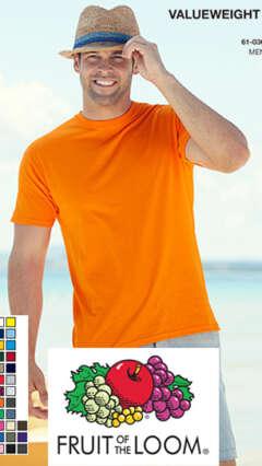 Мъжка памучна тениска с къс ръкавValueweight T