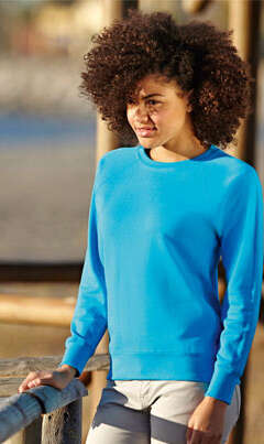 f8d45afa53f Дамска ватирана блуза с дълъг ръкав LADY-FIT LIGHTWEIGHT RAGLAN SWEAT