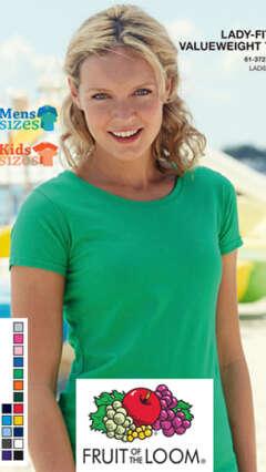 Дамска памучна леко вталена тениска Lady-Fit Valueweight T