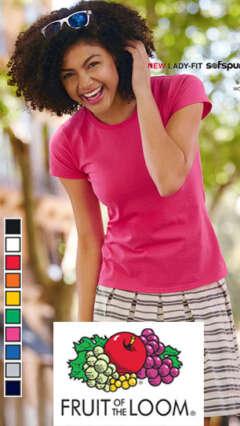 Дамска памучна тениска с къс ръкав LADY-FIT SOFSPUN® T