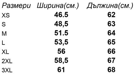 таблица-размери-Дамска-риза-с-дълъг-ръкав-LADY-FIT-LONG-SLEEVE-OXFORD-SHIRT