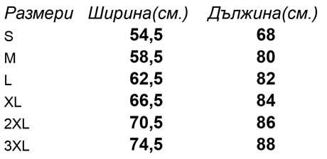 таблица-размери-Мъжка-риза-с-къс-ръкав-SHORT-SLEEVE-POPLIN-SHIRT