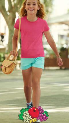 Детска памучна тениска за момичета GIRLS SOFSPUN® T