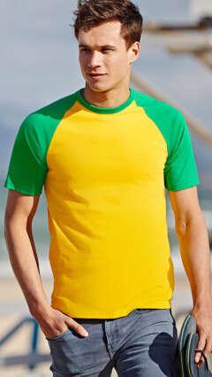 тениска двуцветна VALUEWEIGHT SHORT SLEEVE BASEBALL T