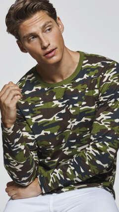 Камуфлажна тениска с дълъг ръкав Roly MOLANO