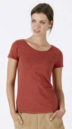 Дамска вталена тениска Stella Loves меланж