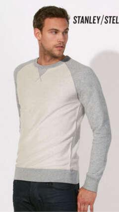 9d7871e33af Мъжка блуза двуцветна ватирана от органичен памук STANLEY STROLLS INSIDE OUT