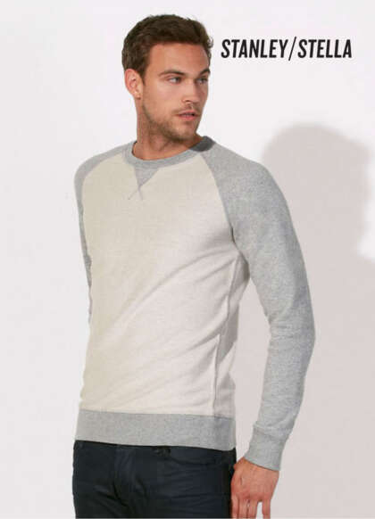 Мъжка блуза двуцветна ватирана от органичен памук STANLEY STROLLS INSIDE OUT