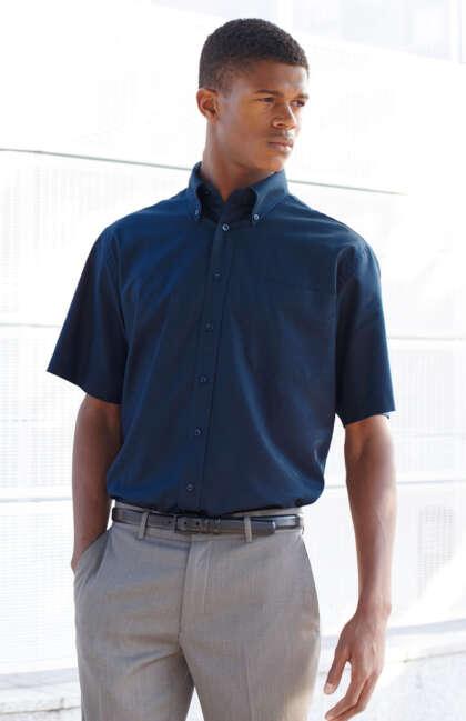 Мъжка риза с къс ръкав SHORT SLEEVE OXFORD SHIRT
