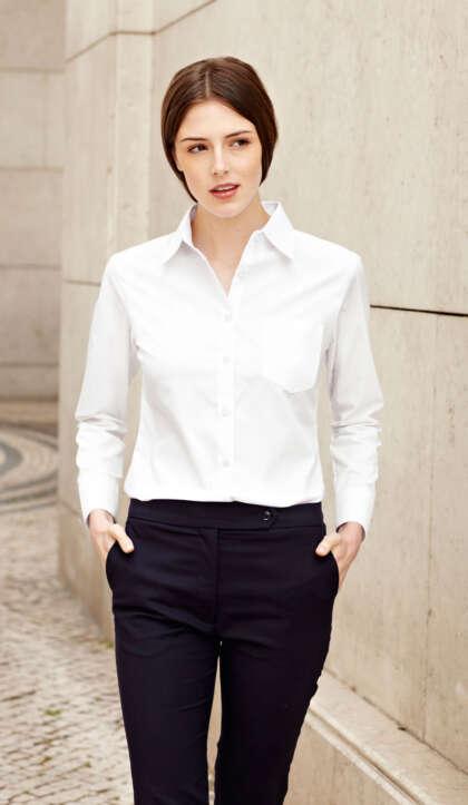 Дамска риза с дълъг ръкав LADY-FIT LONG SLEEVE OXFORD SHIRT