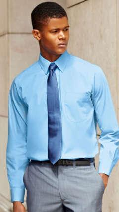 Мъжка риза с дълъг ръкав LONG SLEEVE POPLIN SHIRT