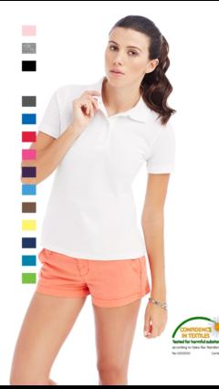 Дамска поло блуза с яка по собствен дизайн