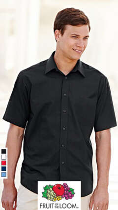 Мъжка риза с къс ръкав SHORT SLEEVE POPLIN SHIRT