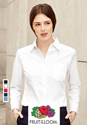 Дамска риза с дълъг ръкав LADY-FIT LONG SLEEVE POPLIN SHIRT