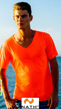 Мъжка неонова тениска CAMISETA HOMBRE CALIFORNIA - NATH