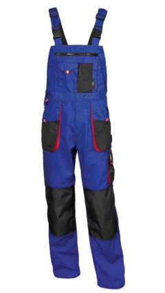 Работен полугащеризон EMERTON Royal/Black/Red Bibpants