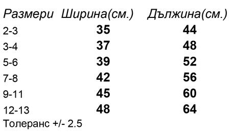 таблица-размери-Детска-памучна-тениска-JUNIOR-BASIC-T