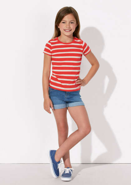 Детска раирана тениска MINI STELLA LINES