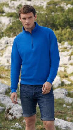 mujka-bluza-CLASSIC ZIP NECK SWEAT